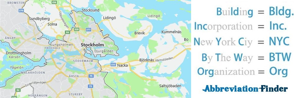 Stockholm and Acronyms