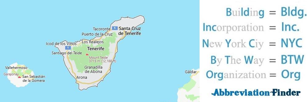 Tenerife and Acronyms