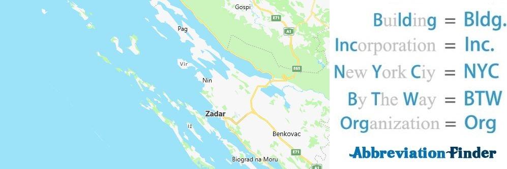 Zadar and Acronyms